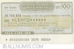 Imaginea #1 a 100 Lire 1976 (7. IX.) - Vicenza