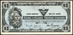 Image #1 of 1 Canadian Tire Dollar 1989