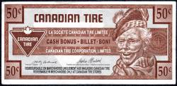 50 Cents Canadian Tire 1992