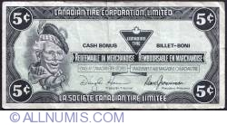 Image #1 of 5 Cents Canadian Tire 1987