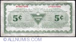 Image #2 of 5 Cents Canadian Tire 1987
