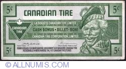Image #1 of 5 Cents Canadian Tire 1992 - Pasternak/Macaulay