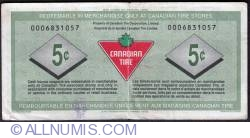 Image #2 of 5 Cents Canadian Tire 1992 - Pasternak/Macaulay