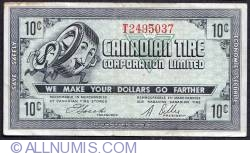 Image #1 of 10 Cents Canadian Tire 1962