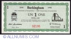 Imaginea #1 a 1 Dollar Buckingham 1990