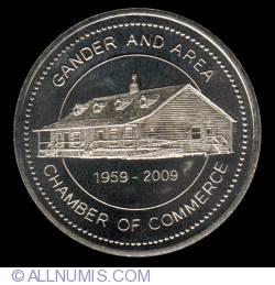 Imaginea #1 a 2 Dollars 2009 - Gander aviation dollar