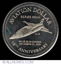 Imaginea #2 a 2 Dollars 2009 - Gander aviation dollar