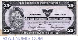Image #1 of 25 Cents Canadian Tire 1987