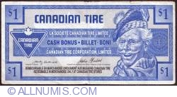 Image #1 of 1 Dollar Canadian Tire 1992