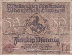 Image #1 of 50 Pfennig 1921 -  Stuttgart