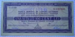 Imaginea #1 a 100 Lei - Cumpărat 15. VIII. 1973 Ružomberok (Cehoslovacia)