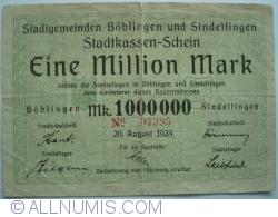 Image #1 of 1 000 000 Mark 1923 - Böblingen and Sindelfingen