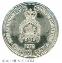 1 Dollar 1978 Royal Canadian Legion Dominion Convention Edmonton Alberta