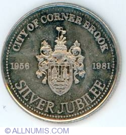 Image #1 of 1 Dollar 1981 Corner Brook Silver Jubilee