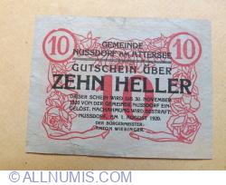 10 Heller 1920 (01.VIII.)