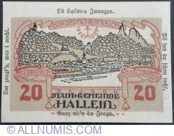 20 Heller 1920 - Hallein
