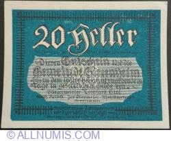 20 Heller 1920 - Siezenheim (Third Issue - 3. Auflage)