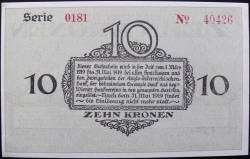 Image #2 of 10 Kronen 1918 - Bodenbach-Tetschen