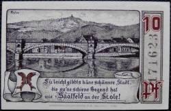 Imaginea #2 a 10 Pfennig 1921 - Saalfeld