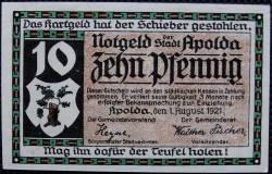 Image #2 of 10 Pfennig 1921 - Apolda