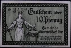 Imaginea #2 a 10 Pfennig 1921 - Oberweidbach