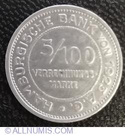 5/100 Verrenchnungs Marke 1923