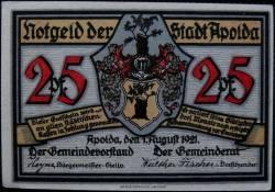 Image #1 of 25 Pfennig 1921 - Apolda
