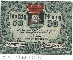 Image #1 of 50 Pfennig 1920 - Zeulenroda
