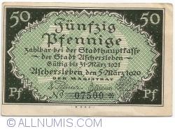 Image #1 of 50 Pfennige 1921 - Aschersleben