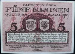 Image #1 of 5 Kronen 1919 - Bodenbach-Tetschen