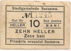 Imaginea #1 a 10 Bani - 10 Heller 1917 Primaria Suceava