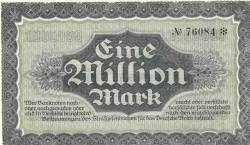 Image #2 of 1 000 000 (Eine Million) Mark 1923 (18. VIII.)