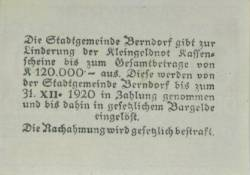 30 Heller 1920 - Berndorf