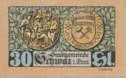 Imaginea #1 a 30 Heller 1921 (3. Auflage) - Schwaz