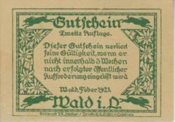 40 Heller 1921 - Wald im Pinzgau