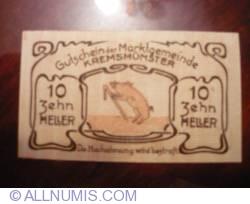 Imaginea #2 a 10 Heller 1920 - Kremsmünster