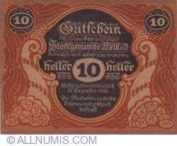 Imaginea #1 a 10 Heller 1920 - Melk