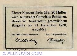 Imaginea #2 a 20 Heller 1920 - Bromberg