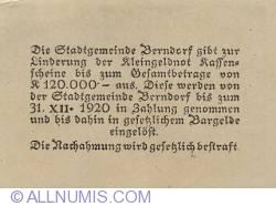 Imaginea #2 a 20 Heller 1920 - Berndorf