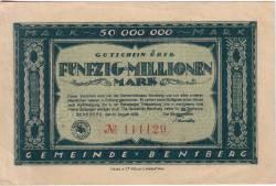 Image #1 of 50 000 000 Mark 1923 - Bensberg