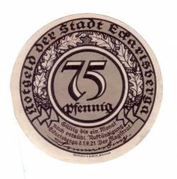 Image #1 of 75 Pfennig 1921 - Eckartsberga