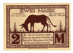 Image #2 of 2 Mark 1921 - Paderborn