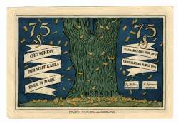 Imaginea #1 a 75 Pfennig 1921 - Kahla