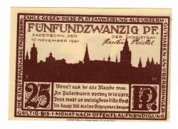 Image #2 of 25 Pfennig 1921 - Paderborn