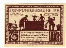 Image #2 of 75 Pfennig 1921 - Paderborn