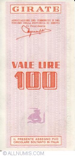 Image #2 of 100 Lire 1977 (15. II.) - Genova