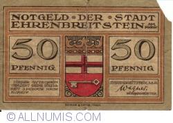 Image #1 of 50 Pfennig 1921 - Ehrenbreitstein