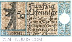 Imaginea #1 a 50 Pfennig 1921 (1) - Berlin