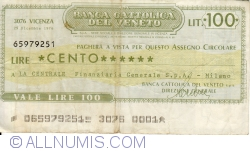 Image #1 of 100 Lire 1976 (29. XII.) - Vicenza