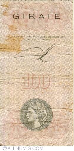 Image #2 of 100 Lire 1976 (6. XII.) - La Spezia (Banca Populare della Spezia e della Lunigiana)